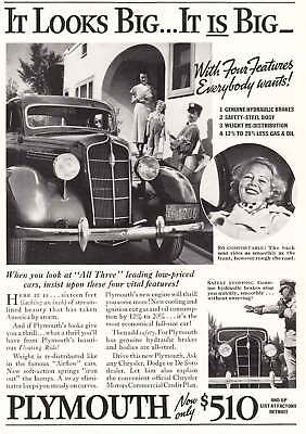 1935 Plymouth: Four Features (4336) Print Ad