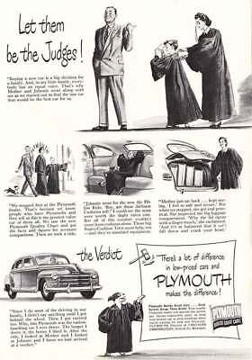 1948 Plymouth: Let Them Be the Judges, Graduation (10416) Print Ad
