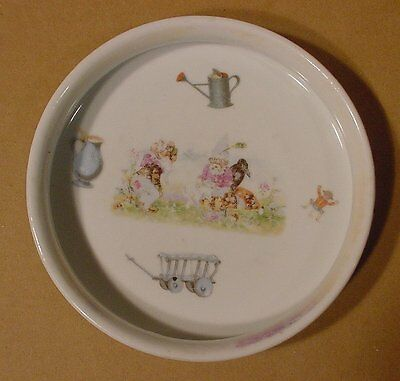 Antique Children's Dish With Gnomes Made in Germany