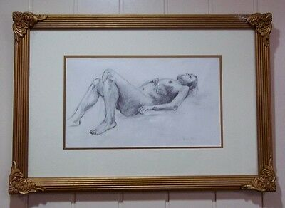 ' Figure Study ' , by Listed Artist , Leon Roubos , 1985 .