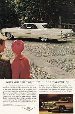 1964 Cadillac: Take the Wheel (12400) Print Ad