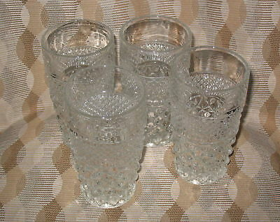 Anchor Hocking Wexford water tumblers (4)