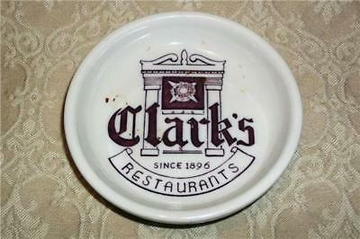 Vintage Clark's Restaurant Ware Walker China Tray Plate Bedford Cleveland Ohio