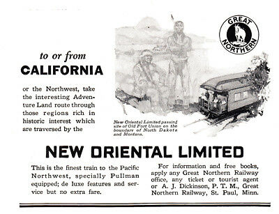 1925 Great Northern Railway: New Oriental Limited (23475) Print Ad