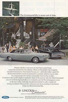 1967 Lincoln Continental: The Continental Life is Never Out (6758) Print Ad