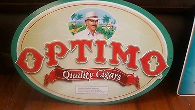 Optimo Cigar Sign-New Old Stock