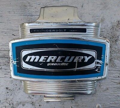 Mercury 402 40 HP Front Cover, Cowl, Cowling (thunderbolt Ignition decals)