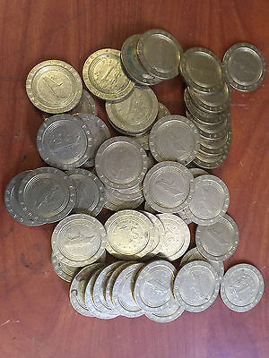 Slot Machine Tokens - Dollar  $1  Lot Of 100 - Us Cruise Ship