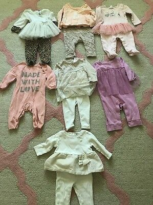 Lot Baby Girl Size 3-6 Months Outfits Sets Excellent Condition Brand Name !