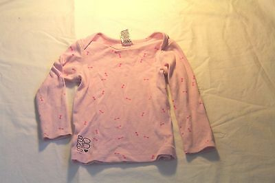 Bonds girls long sleeve top thermal pink size 12-18 months