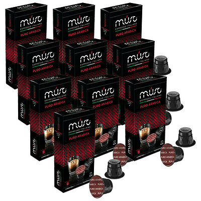100 Nespresso Compatible Coffee Pods Capsules PURE ARABICA Italian Coffee