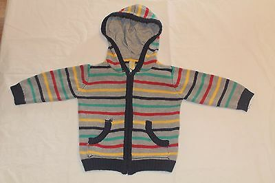 Dymples Boys Toddler Zip Cardigan Hoodie Hooded size 1 thick warm!