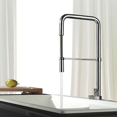 Kitchen Faucet Pull Out Sprayer Single Handle Chrome Sink Mixer Tap Kitchen