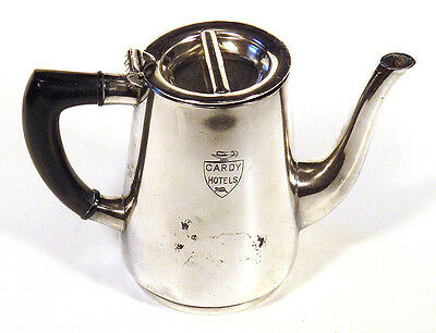 Vintage Silverplate CARDY'S HOTELS Canada TEAPOT HOT WATER POT Toronto Montreal