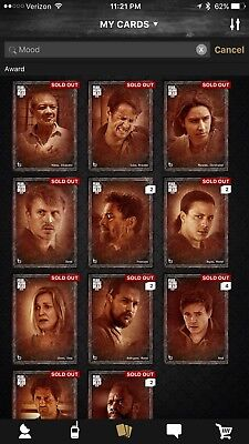 Topps The Walking Dead Card Trader FEAR MOOD  Faded Complete Set With All Awards