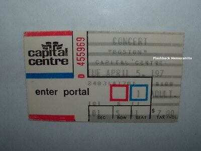 BOSTON 1977 Concert Ticket Stub CAPITAL CENTRE LANDOVER D.C. Mega Rare BRAD DELP
