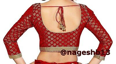 Readymade Saree Blouse, Banarasi Chanderi Silk Blouse, Sari Blouse, indian choli