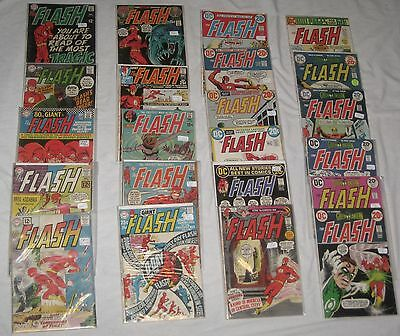 Silver Age Lot/22 The FLASH Comics, between Issue #s 125 & 229 avg VG/FN 5.0