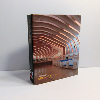 Graphisoft Archicad 16 Brand new , book and Disc No External Wibu Key .