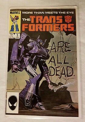 The Transformers #5 Key Issue Marvel Comic Book