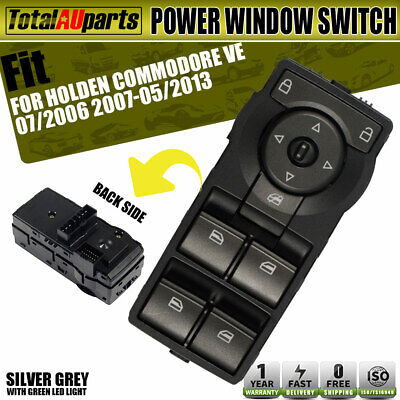 Power Master Main Window Switch for Holden Commodore VE With Green Illumination
