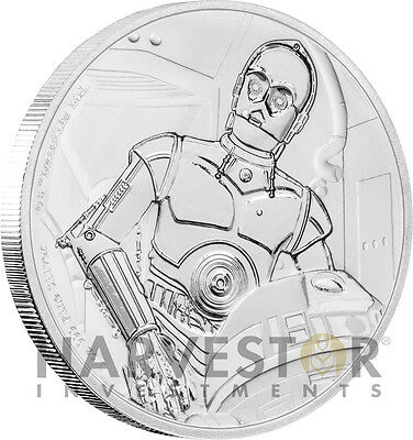 Star Wars Classics: C-3Po - 1 Oz. Silver Coin - With Ogp Coa - 9Th In Series