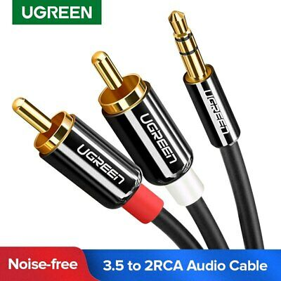 UGREEN 3.5mm to 2RCA Audio Auxiliary Stereo Y Splitter Cable for Amplifier Speak