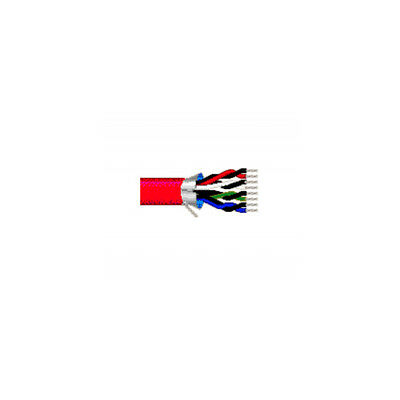 500' Belden 89505 24 AWG 5P FEP Jacket Red Computer RS232 Applications Cable