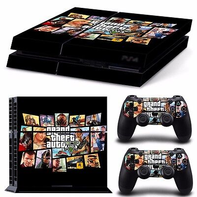 PS4 playstation console controller skins GTA V GRAND THEFT AUTO  Aussie seller
