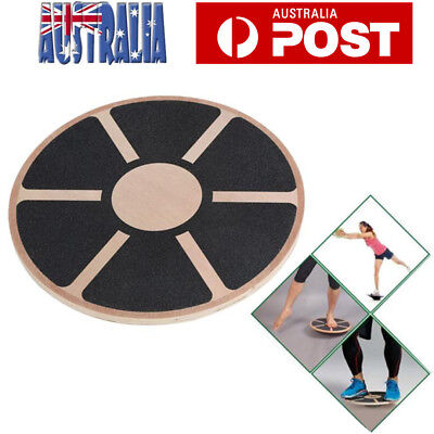 Wooden Balance Board Fitness Wobble Yoga Pilate Support Professional Fitness AU