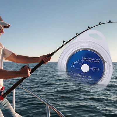 1PC Fishing Steel Wire Fishing line 10M 7Strands Braided Leader Wire SeaFishing