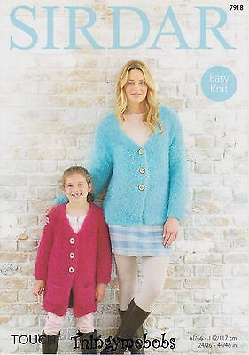 """Sirdar 7918 Knitted Cardigans Original Knitting Pattern - Touch - 24-46"""" Chest"""