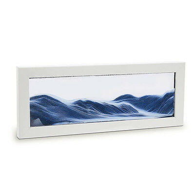 NEW Moving Sand Art in white picture frame Men's by The Design Gift Shop
