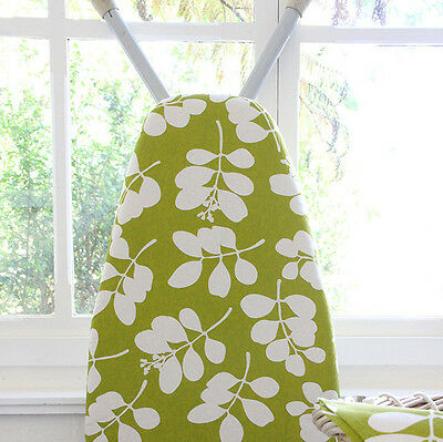 NEW Organic cotton ironing board cover in succulent citronelle green by Dandi St