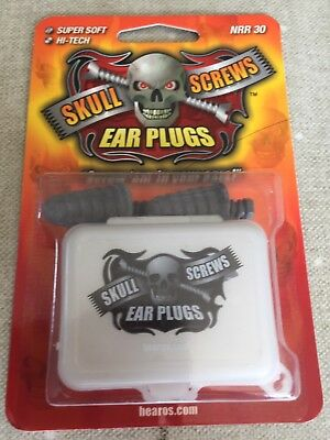 Skull Screws Ear Plugs Hearos Super Soft Hi-Tech