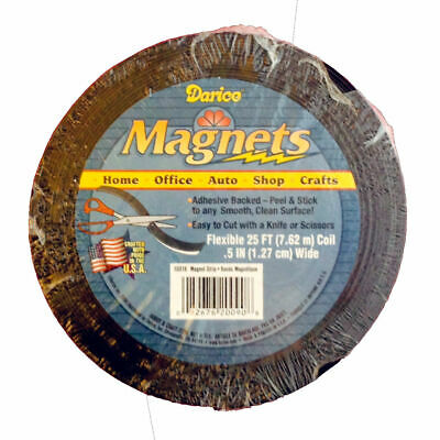 """Self Adhesive Roll Flexible Magnetic Strip Tape - 25 ft x 1/2"""" (Craft Magnets)"""