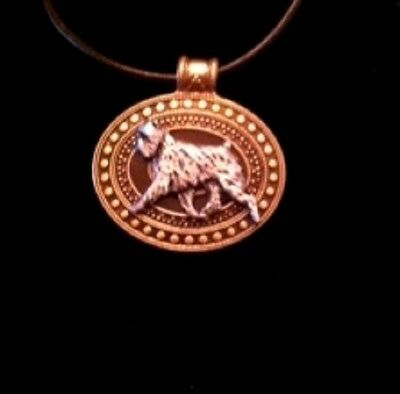Affenpinscher Dog Brass Medallion~necklace~dog lovers~leather cord~affinpinscher