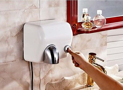 White Stainless Steel Bathroom Wall Mounted Semi-automatic Hand Dryer Machine