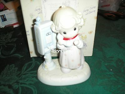 """Precious Moments Figurine """"Lord Please Don't Put Me on Hold """" 1998 PM982 Members"""