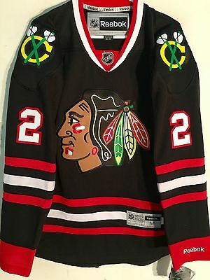 NHL Chicago Blackhawks Duncan Keith Premier Ice Hockey Shirt Jersey