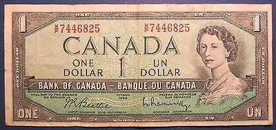 1954 Canada $1 One Dollar WP 7446825