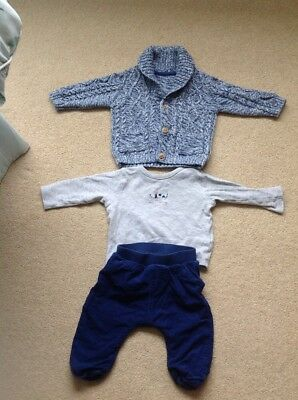 6-9 month boys outfit set M&S