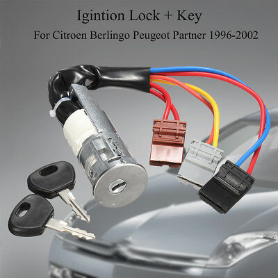 Ignition Lock Barrel Switch 2 Keys For Peugeot 106 Citroen Saxo Ax Partner Exper