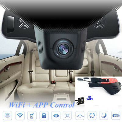 1080P Wifi Car DVR Dash Camera Recorder Monitor with Reverse Backup Parking Cam