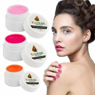 Nail Gel Polish Pure Colour Builder Solid Extension Gel 36 Colors UV Curing Long