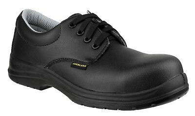 Amblers Safety Mens Black ESD Lace Up Shoe Various Size FS662