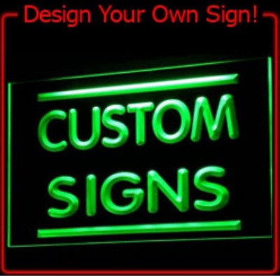 Custom Deco Neon Lighted Edge Lit Acrylic Etched Night Light Up Sign LED Display