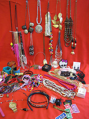 Job Lot Costume Jewellery - Car Boot - Necklaces / Bangles / Beads / Watches