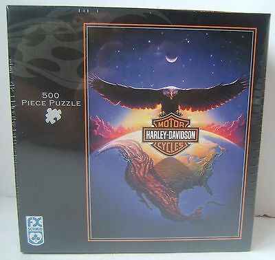 "Harley Davidson Motorcycles 500 PC Puzzle HD Universe Brand New Sealed 24"" x 18"""