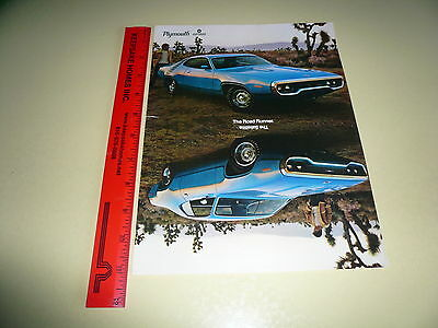 Plymouth Road Runner & Satellite - Ad/Advertisement